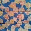 着物生地(285)壺に破れ色紙・唐花模様上代紬