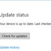 Windows10 AnniversaryUpdateをMicrosoftのサイトから手動で適用する