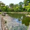 鶴沼公園 日本庭園の池(北海道浦臼)