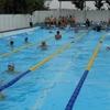 水泳部練習中