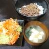 牛丼、コールスロー、味噌汁