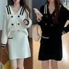 セットアップ 2点セット 韓国ファッション レディース ニット ニットスーツ ニットスカート
