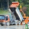 最上小国川ダム(建設中)/コンクリート打設の流れ