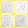 東方プロジェクト自機キャラ四人を描いてみました!