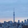 スカイツリーに(とその逆側にも)思いをはせる東京出張