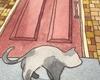 玄関前の猫