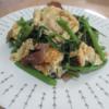 空芯菜と卵ときくらげの中華炒め