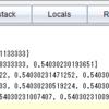 TI-Nspire & Lua / 補外法 3 / 何かを偶数次多項式で補外する / Neville の算法で補外値だけを求める / 刻み幅を順次 1/2 にした場合