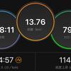 ジョギング13.76km・10kmペース走(下り坂参考記録)