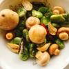 空豆とマッシュルームの和風アヒージョ