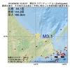 2016年08月30日 10時32分 網走沖でM3.1の地震