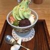 大阪・ルクア『カフェソラーレツムギ』の『豆乳プリンの抹茶クリームあんみつ』