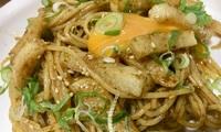 【レシピ】ごはんですよ!で月見とろろそばをパスタに。山葵のピリ辛が新しい長芋の和風パスタ〜山葵と海苔風味〜