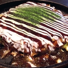日田駅の構内にあるお好み焼き屋さん『焼き平(やきべえ)』で、ひとりランチ