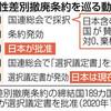 女性差別撤廃条約の議定書批准 「早期」文言削除一時検討- 東京新聞(2020年3月8日)