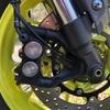 MT-09 車検準備① 前ブレーキ清掃