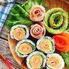 サーモンと卵のお花の巻き寿司(バラの巻き寿司)(動画有)