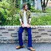 レイヤードスタイルに最適な一枚。UNIQLOのワッフルヘンリーネックT(長袖)【ユニクロ2021春夏メンズ購入品】