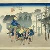 東海道五十三次 十一の宿 伊豆国君沢郡 三島宿 まれ人のかげもおぼろにいでたちぬ
