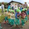 自分で作った竹鉄砲