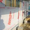 工事86日目:外壁シート貼り・帯金具固定