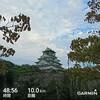 今年最後の大阪城ナイトラン