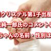 滝川クリステル第1子出産!小泉純一郎氏のコメントとは?赤ちゃんの名前は?