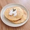 朝ご飯:簡単かぼちゃのホットケーキ(帰省前に作成しました。)