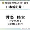 【レース結果レポ】東京マラソンで日本新記録!設楽選手が凄すぎる!【出たよ1億円!】