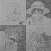Luffy vs. Sanji (Pencil drawing) ルフィVSサンジ(鉛筆描き)