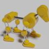 Blender 206日目。「ロボット犬アニメーション」その3「モデリング③」。