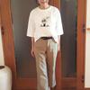 人気キャラJosie's RUNWAYコラボTシャツ|ひじが隠れる5分袖&ゆとりシルエットのこなれ感
