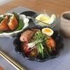 冷麺と春巻
