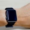 1580円で購入したApple Watch用バンド「スポーツループ 42mm」風がいい感じ。