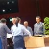 22日、福島市消防大会。午後松川事件の講演と映画をみる会。