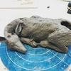 寝そべり鹿鉢と犬の陶モビール