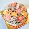 待ちに待ったバタークリームケーキヽ(*´▽)ノ♪ 薔薇の花束 フラワーケーキ♪♪