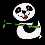 笹が大好きなかわいいパンダ のイラスト