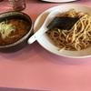 ピリ辛味噌つけ麺&チャーシュー丼(生姜焼き風味)@あやめ 2020ラーメン#16