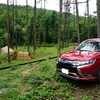 長野の林間サイトで雨降りキャンプ