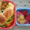 ~梅雨入りカエルパンキャラ弁~冷凍食品を使わず、可愛幼稚園弁当