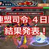【モンパレ】連盟司令 4日目 結果発表!ニセゴロン編