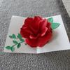 バラのポップアップカード作り