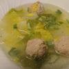 鶏団子と白菜のスープ、もやし炒め=修行僧