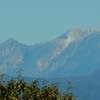 今朝もくっきり山が見える