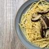 椎茸と生姜のパスタ(かすかな醤油の和風)