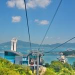 「麗水海上ケーブルカー(Yeosu Maritime Cable Car)」からの空中散歩~麗水(ヨス)の街並、港を一望!!