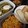 アヒージョ、切り干しカレー炒め、ポトフスープ