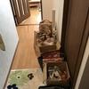 食品庫と化している廊下の断捨離。