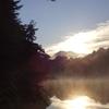 途中報告 毘沙門沼の朝、西吾妻山の紅葉はこれから